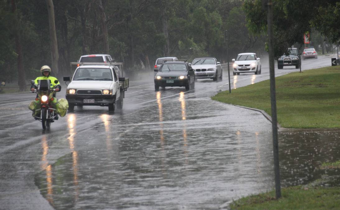 DRIVE SAFE: Lots of Redlanders will be heading home from their weekend break in the rain.