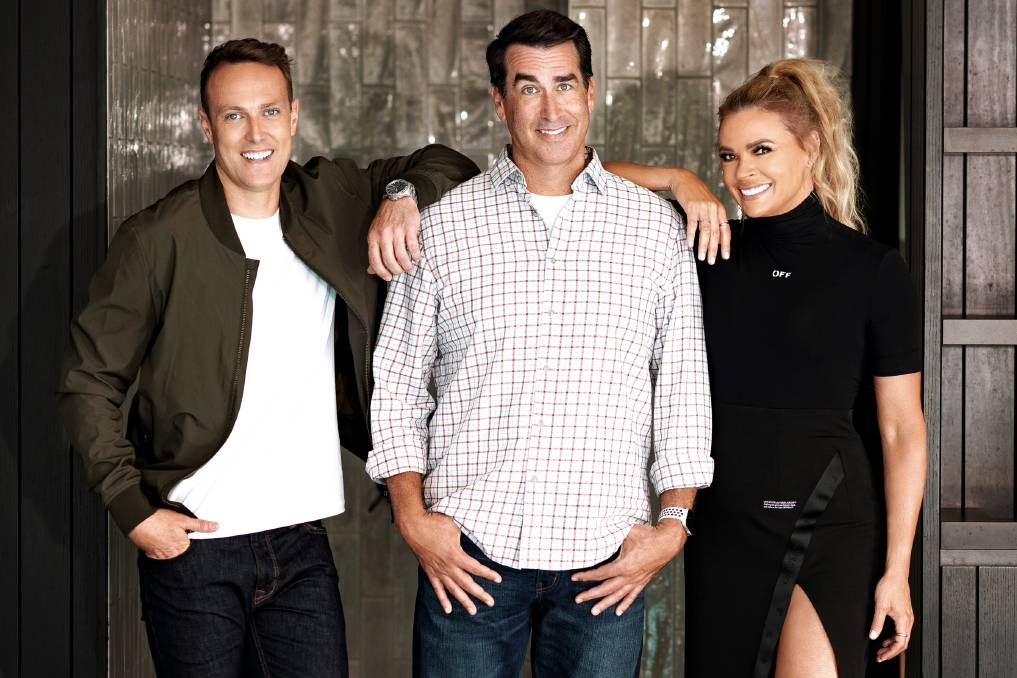 LIGHTS, CAMERA, ACTION: Australian Olympian Matt Shirvington, American comedian/actor Rob Riggle and presenter Sonia Kruger are in town as filming on Holey Moley kicks off tonight.