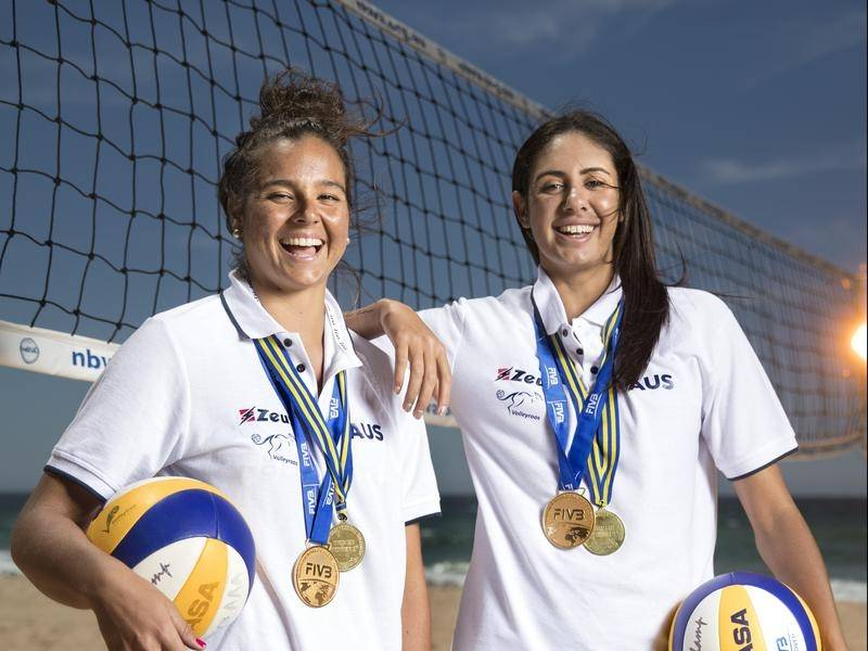 Australian beach volleyballers Taliqua Clancy and Mariafe Artacho del Solar.